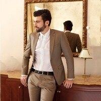 Brown Suit Men 2019 Latest Coat Pant Design Wedding Suits For Men Groom Custom Slim Fit Smart Business Street Prom Blazer 2Piece