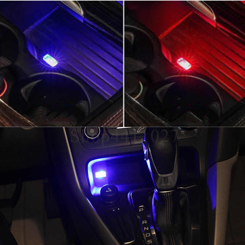 Car Accessories USB LED Light Portable Plug Car Styling Atmosphere  Decorative Lamp For Scania
