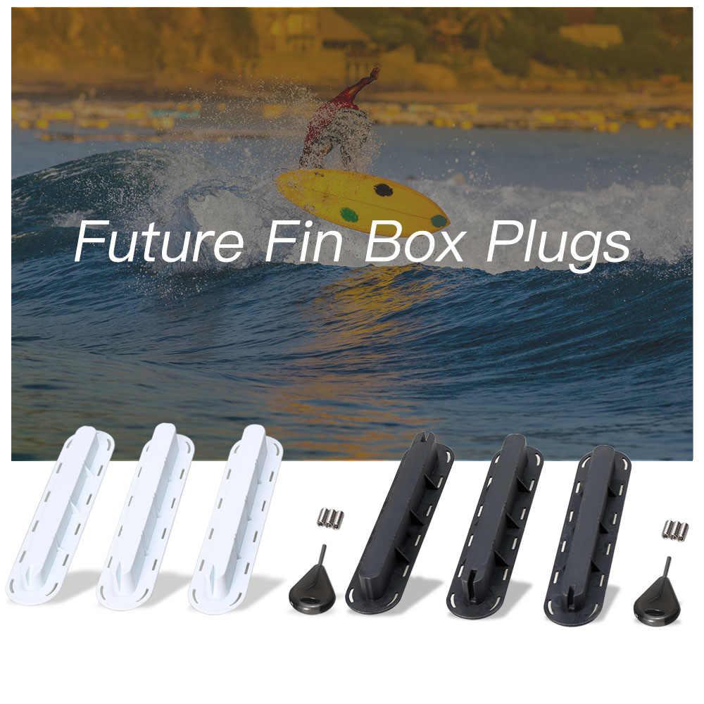 3 Pack Masa Depan Sirip Kotak Colokan FCS Fin Plug Sekrup Ganti Sekrup Fin Dasar Sup Sekrup Surf Sirip Plugs Set dengan Sekrup