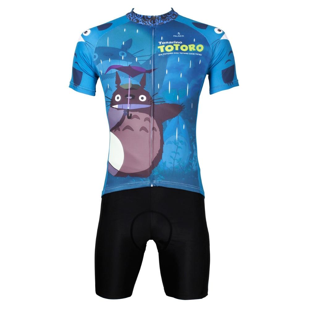 ФОТО Men Cycling Jersey Anime My Neighbor Totoro Men  Cycling Clothing Bike Sportwear Bicycle Short Sleeve Cycling Jersey Set X518