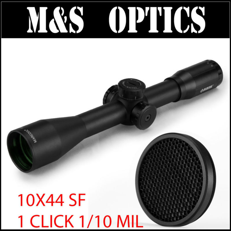 MARCOOL 10x44 SF Riflescope Gold Color Hunter Iron Metal Optic Sights Scope Free With 44MM Sunshade Protective Killflash marcool alt za3 5 25x56 sfir riflescope