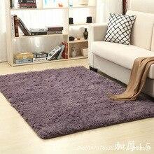 Home Furnishing Thickening water washed silk wool anti slip long hair carpet living room tea bedside yoga mat customized wholesa