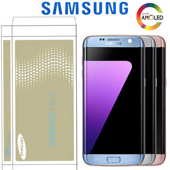 5.5\'\' The Burn-shadow LCD For Samsung Galaxy S7 Edge Display With Frame G935F G935FD Screen Digitizer Assembly With Service Pack - DISCOUNT ITEM  10% OFF Cellphones & Telecommunications