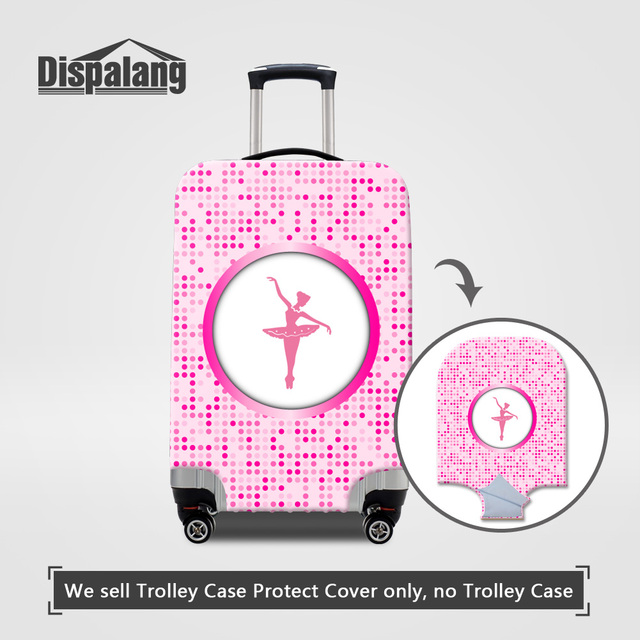 4 Sizes S/M/L/XL A Cover For Suitcase For Travel Cute Ballet Dancing Girl Luggage Protective Covers For Women Travel Accessories