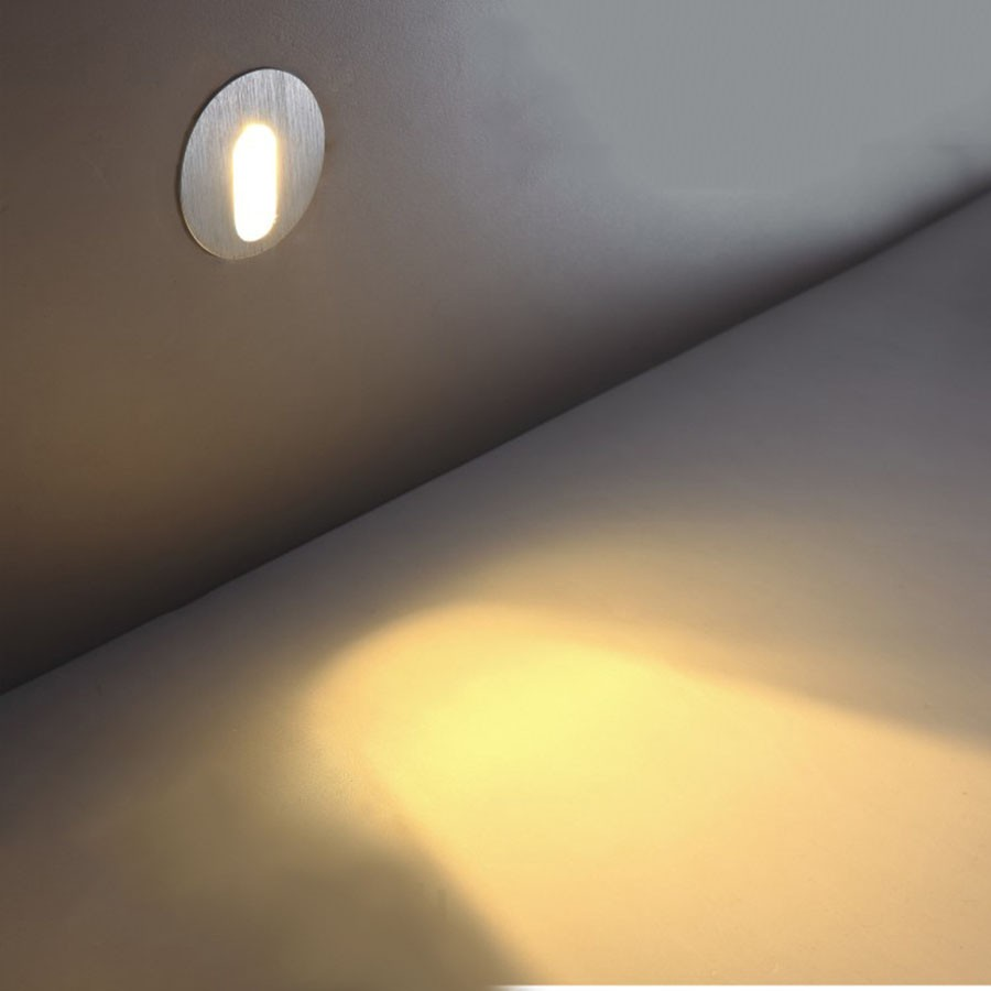 corner lighting. ZINUO3W Round LED Footlight Recessed Spot Light Wall Corner Lights For Stair Step Corridor Stairsway Aisle Angle Lights110V 220V-in Downlights From Lighting