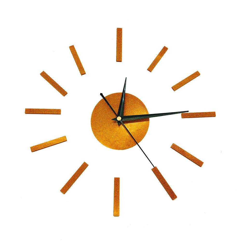3D DIY Home Decor Quartz Diy Wall Clock Clocks Horloge Watch Living Room Metal Acrylic Mirror 16 Inch Stylish Wall Clock