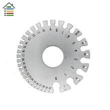 Wire Sheet Metal Gauge Stainless Steel US Standard 0-36AWG /.007″ to .3125″ Stainless Steel Wires Diameter Measuring Tool