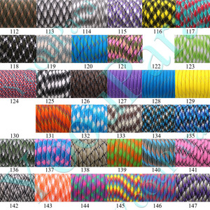 Image 5 - 230 Colors Paracord 550 100FT 50FT Paracord Rope Mil Spec Type III 7Strand Paracorde 550 Survival Kit Equipment Wholesale