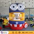 Promocional Inflable Cubo Metálico 2.35 metro de altura de dibujos animados Stand Dinero acaparamiento de Dinero corriendo dinero BG-A0682-3 juego inflable de juguete