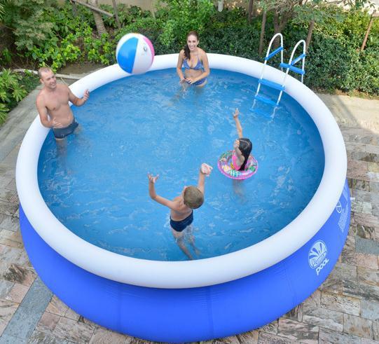 Plastik Pool 240 * 63 cm kolam renang tiup, plastik bayi renang piscina dengan