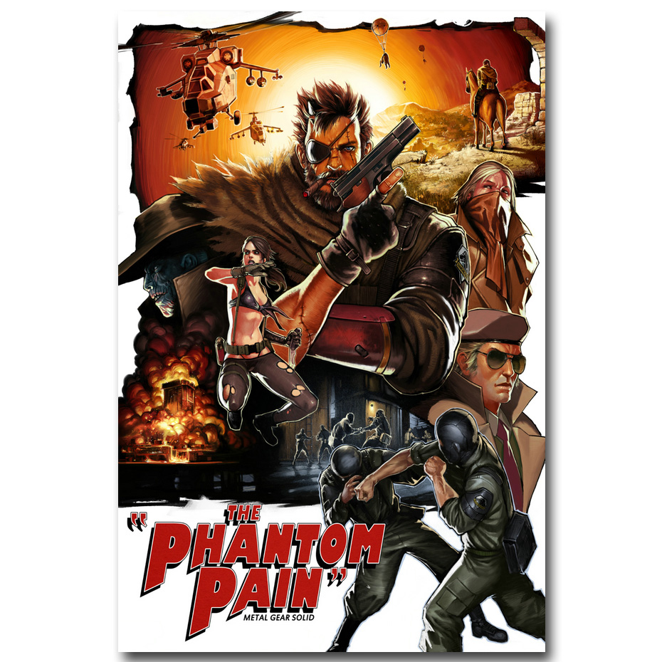 Metal Gear Solid V Phantom Pain Art Silk Poster Print