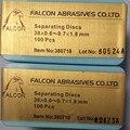 5*100 Piezas Dental Lab Rojo Material de Separación de Discos Abrasivos Para Metal O Cerámica Corona Diámetro De Corte 38mm espesor 0.7mm