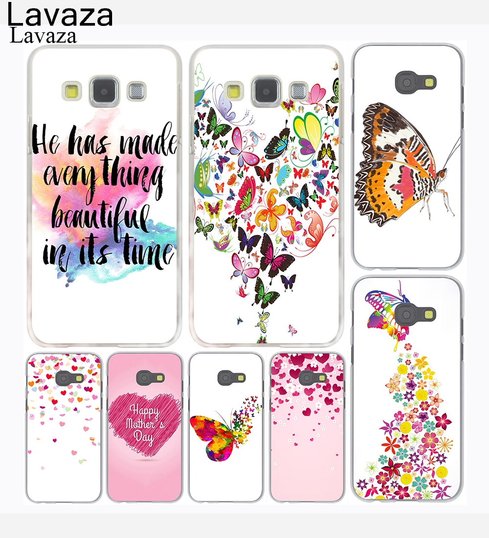 Lavaza Watercolor Butterfly Pink Love Hard Phone Case For Samsung Q430 Dc Jack Power Port Socket Connector Wire Harness Cable Galaxy A3 A5 J7 J3 J5 2015 2016 2017 Grand Prime Note 2 3 4 5