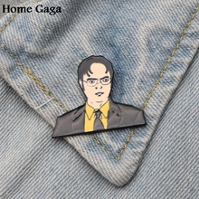 Homegaga The office inspired Dwight Schrute letter pins badges shirt bag clothes backpack shoes brooches diy decorations D1507