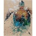Картина по номерам «сделай сам», Прямая поставка, 40x50, 50x65 см, картина маслом, черепаха, животное, холст, свадебное украшение, художественное о...