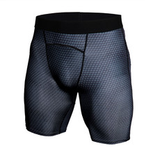 Men Crossfit Compression Elastic Tight shorts Run sports workout Quick-dry short pants male summer Fitness Bodybuilding shorts