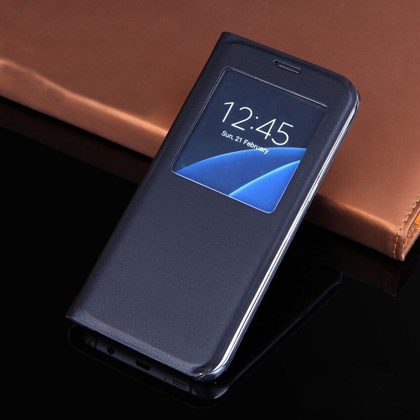 Luxusní kožené pouzdro pro kožené pouzdro pro telefon Samung S7 s nárazuvzdornou taškou a otočným pouzdrem pro Samsung Galaxy S7