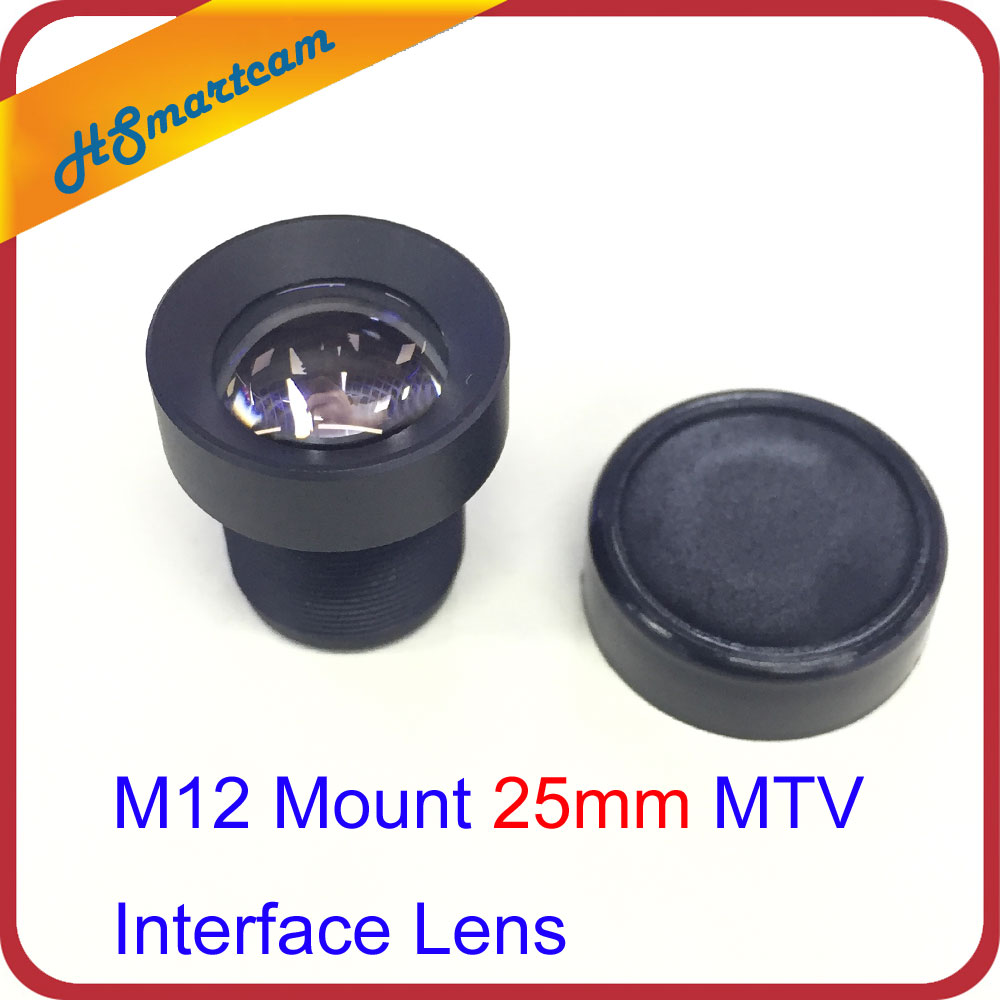 M12 Mount 25mm MTV Interface Lens for CCTV Security Camera F2.0 14.6 Degree For AHD CVI IP WIFI Camera DVR system Accessories