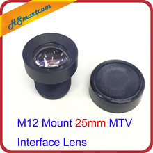 M12 Mount 25mm MTV Interface Lens per telecamera di sicurezza CCTV F2.0 14.6 gradi per AHD CVI IP WIFI Camera DVR accessori di sistema