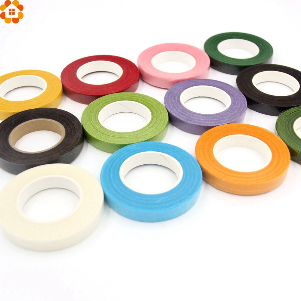 25meter paper garland glue tape artificial flower fixed for Decoration tape