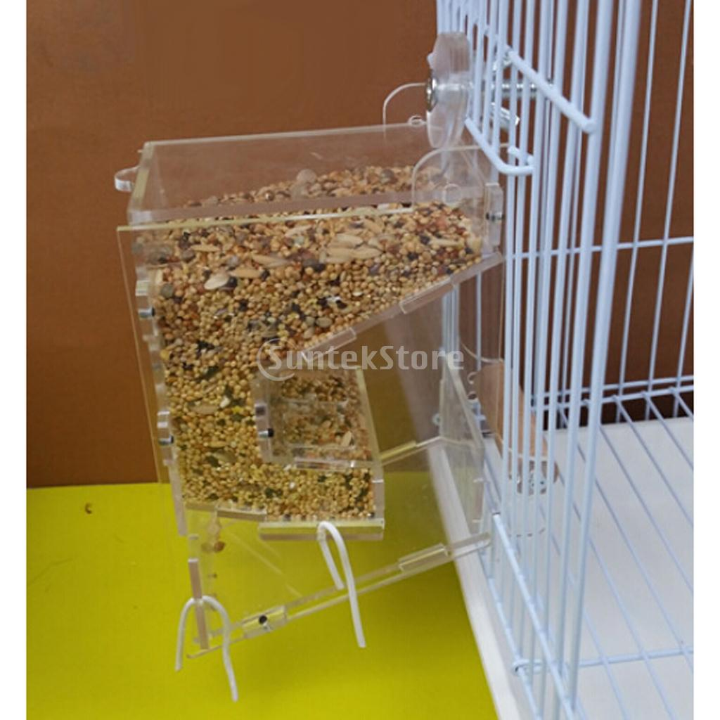 canary acrylic cockatiel global seed feeders parrot feeder cage p s tidy hopper res technicalissues inflow content tray ondisplay inflowcomponent bird