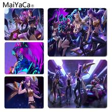 MaiYaCa League of Legends virtual girl band K DA KaiSa2 ratón de oficina Gamer alfombrilla de ratón suave ratón de ordenador ratón para juegos de ratón esteras(China)