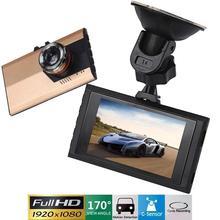 "3 ""hd 1080 p del coche dvr de la cámara de cctv cámara de la rociada del g-sensor registrador de la leva de vídeo usb dvr motion"