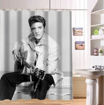 Custom Home Decor Elvis Presley Fabric Moden Shower Curtain bathroom Waterproof 66x72 Free Shipping