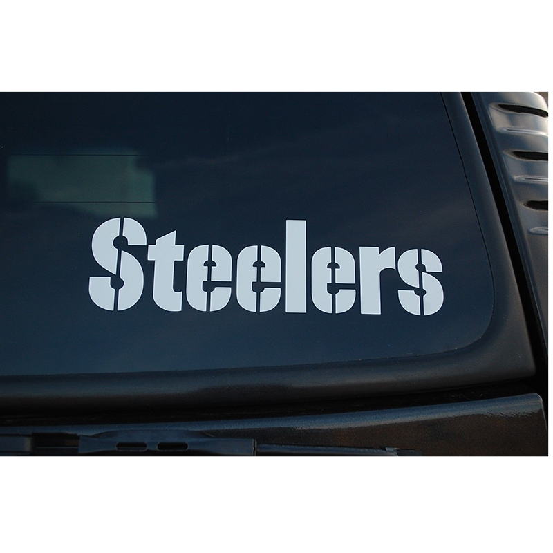 Steeler Decals Rugby Steelers Sticker High Quality American Football Stickers Car Window Decal Sticker 15cm