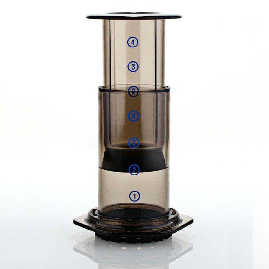 Mini Coffee Maker Handheld Espresso Portable Coffee Pot AeroPress Espresso Filters + 350pcs Espresso Filter Paper Coffee Machine