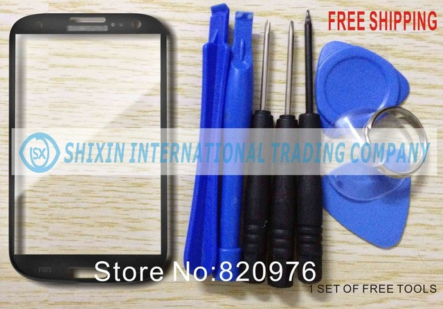 Free Shipping 10pcs/Lot Original Digitizer Grey LCD Touch Screen Lens Top Replacement Glass for samsung Galaxy S3 i9300 9300