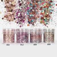Caixa 1/10 ml Mix Unhas Glitter Poder 29 Vermelho/Verde/Rosa/Roxo Mix Holo Lase unha Lantejoulas Paillettes Glitter Para Nail Art Glitter # MA