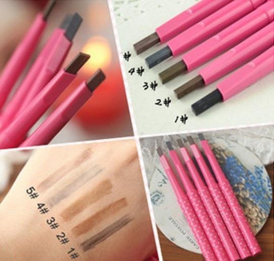 Waterproof Longlasting Eyebrow Pencil Eye Brow Liner Powder Shapper Makeup Tool maquillage rotated shadow enhancer 5 colors