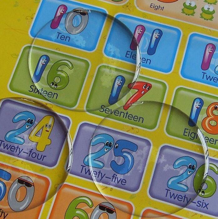 1000 unids/lote 3D Domo círculo 2 pulgadas redondo transparente epoxi pegatina para DIY tapa de botella autoadhesiva resina puntos pegatinas-in Obsequios para fiestas from Hogar y Mascotas    1