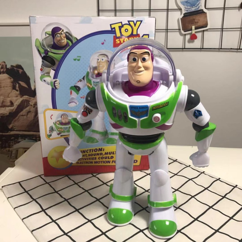 Toy Story 4 Talking Buzz Lightyear Toys Lights Voices Speak English Joint Movable Action Figures