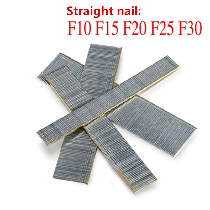 1400pcs/pack Eletric staple Gun nails F10 F15 F20 F25 F30 410 413 416 419 422 1008 1010|gun nails|staple gun|nail gun nails - title=