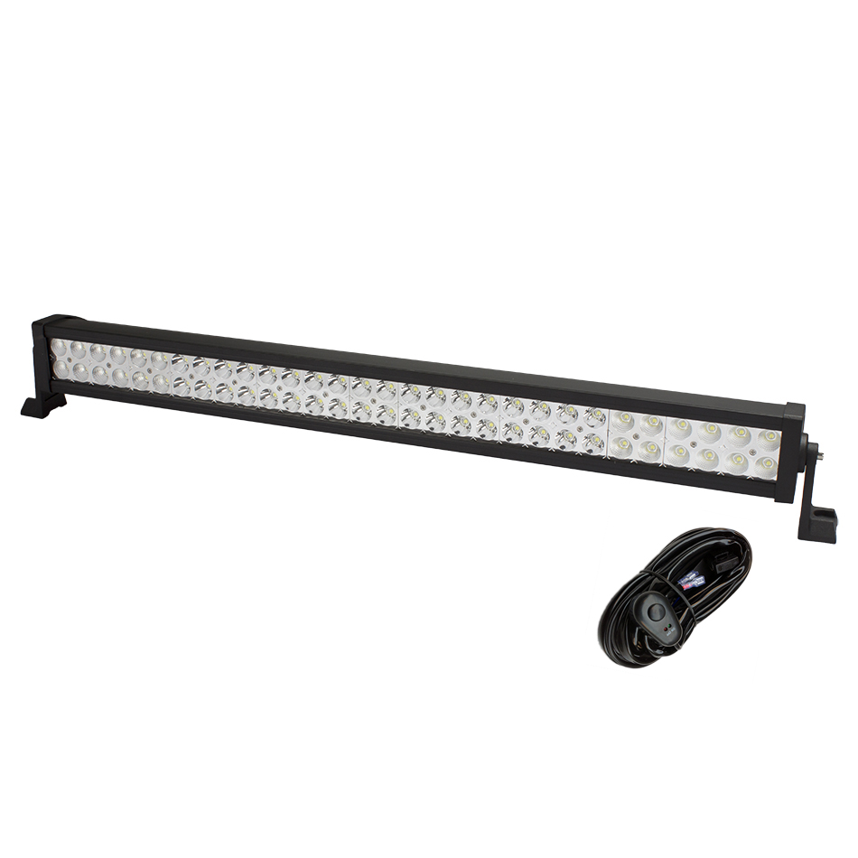 weketory 32 Inch 180W LED Light Bar for Work Driving Boat Car Truck 4x4 SUV ATV Off Road Fog Lamp Spot Flood Beam with Wiring