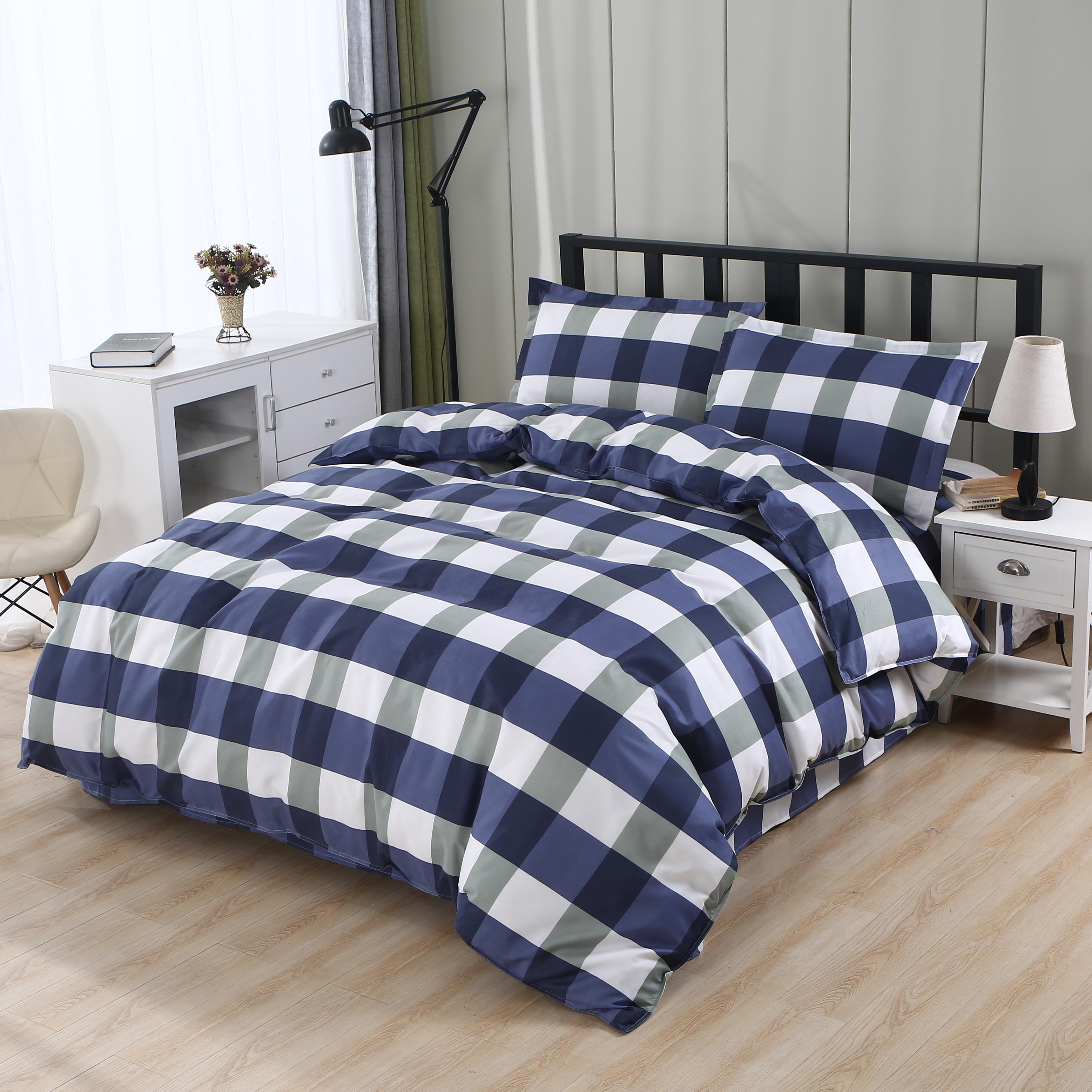Mecerock Комплект постельного белья из 100% полиэстера Пододеяльник Простыня Простыня Наволочка Twin Полный размер короля King Size эластичный простыня