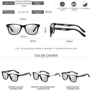 Image 2 - ZJHZQZ New Alloy Polarized Photochromic Sunglasses Mens Womens UV400 Driving Fishing Transition Chameleon Lens Sun Glasses