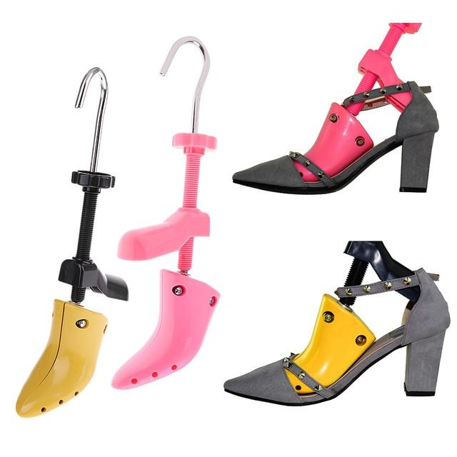 قابل للتعديل النساء حذاء كعب عالٍ شجرة الأحذية البلاستيكية نقالة المشكل المهنية 2 طرق Eu35 41