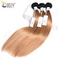 Doozy Ombre Brazilian Human Hair Bundles 2 Tone 1b 27 Dark Blonde Non Remy Double Weft