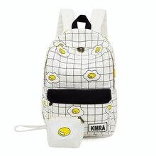 Каваи мультфильм печати холст рюкзак Японии и корейский стиль свежий Джокер рюкзак элегантный дизайн школы студентка мешок