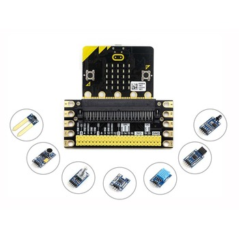 BBC micro:bit sense pack, comes with edge connector breakout, several common used sensors.