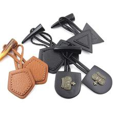 Horn Toggle Button, Duffle Coat Jacket Fasteners With leather patch ,leather buckle 10 sets/lot