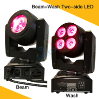 (10Pcs/Lot) One Side 40W Led Beam Moving Head Another Side 4*15W Led Wash Light With 16/22 Channels For Dj Equipment Event Party