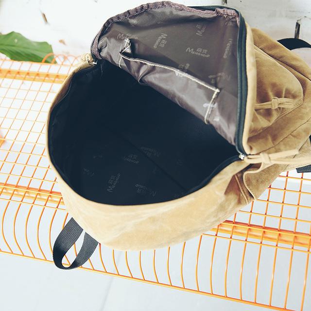 Women Preppy Suede School Bags Vintage Backpack Travel Bag