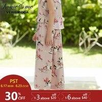 Vero Moda Women's new print cropped wide leg pajamas home pants |3181P7507