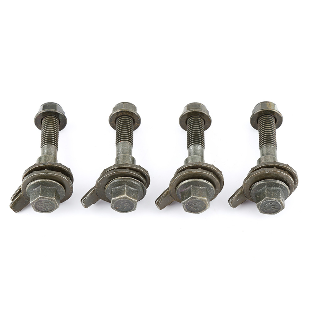 4pcs/Set Camber Kit Cam Bolt 14mm Vehicles Steel Four Wheel Alignment Adjustable Camber Kit Cam Bolt