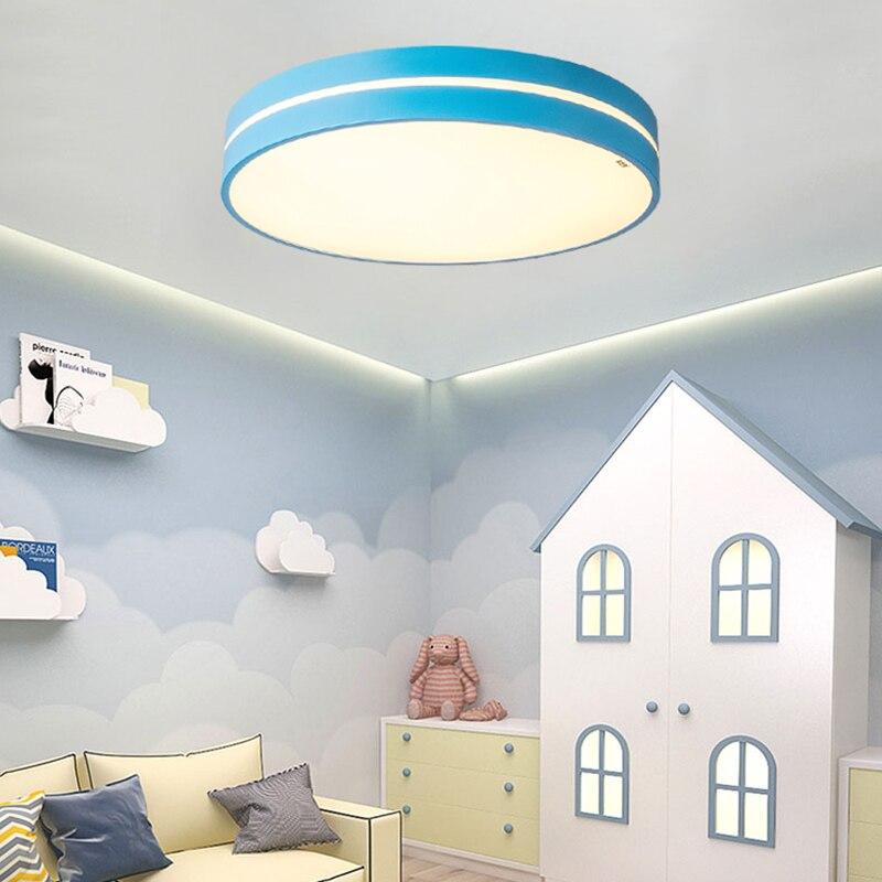 HA CONDOTTO l'illuminazione del soffitto Nordic macarons Dimmerabile luce camera da letto moderna lampada della stanza dei bambini in Acrilico AC90 260 luminaria spedizione gratuita - 2