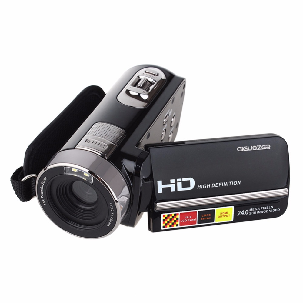 Newest Video Cameras 1080P Full HD 24MP Mini Camcorder 3.0″ Rotatable TFT LCD IR Night-Shot Digital Video Camera